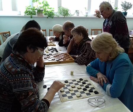 Турнир по шашкам в Асбестовском обществе слепых
